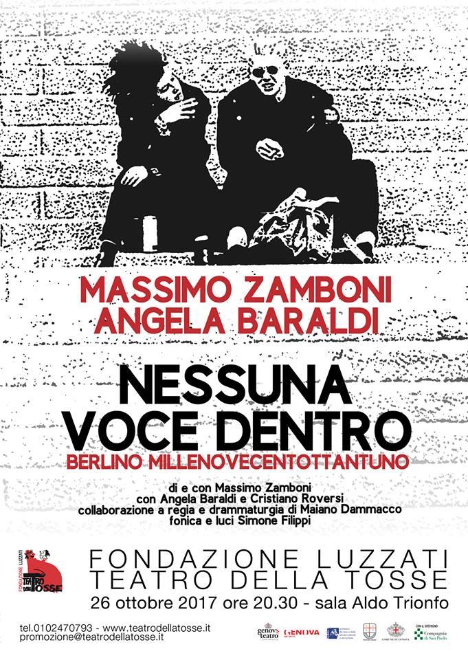 Nessuna Voce Dentro al Teatro Della Tosse Fondazione Luzzati – Genova . 26-10-17